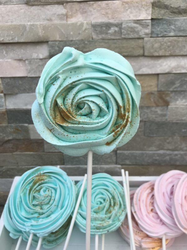 Sucettes en meringue Vert Mint