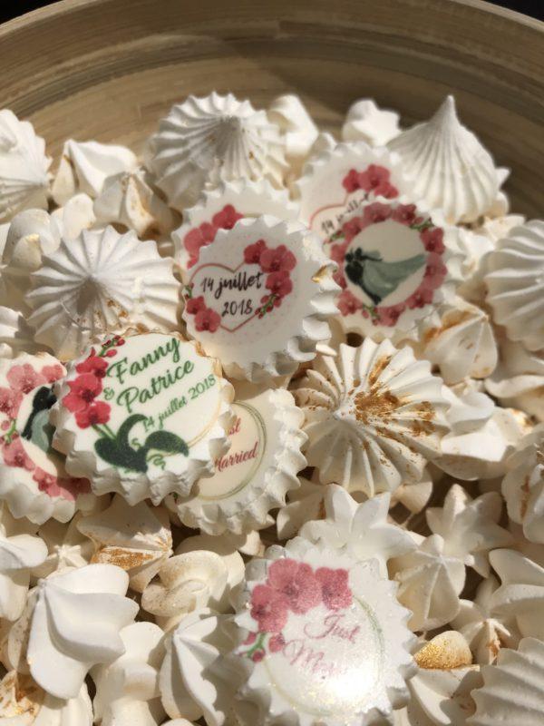 Ballotins de 50 meringues spéciale mariage