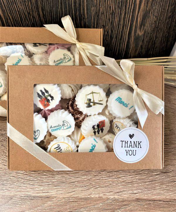 Boîte de 20 meringues personnalissées