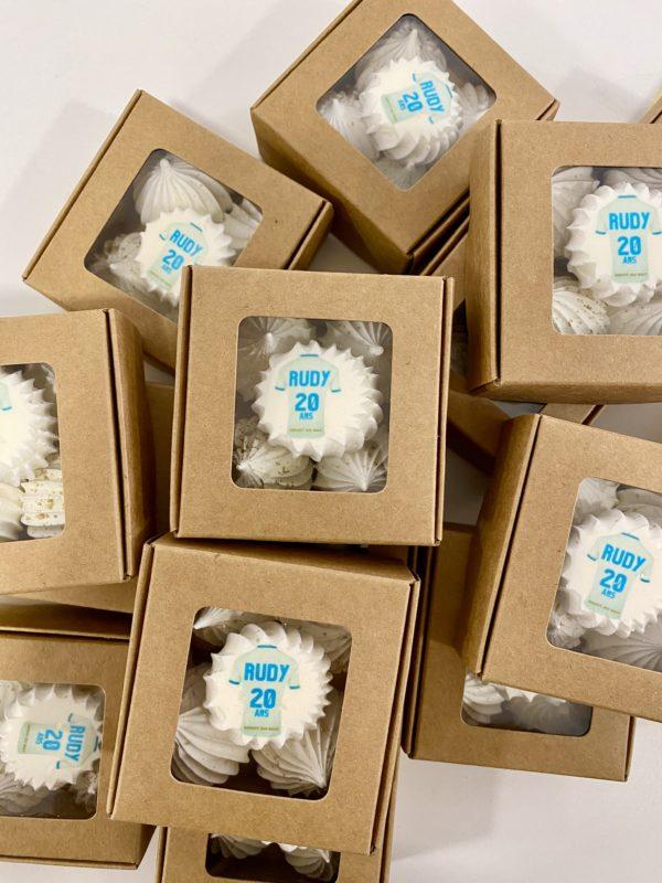 Boîte de 5 meringues personnalisées