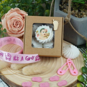 Boîte de 5 meringues naissance
