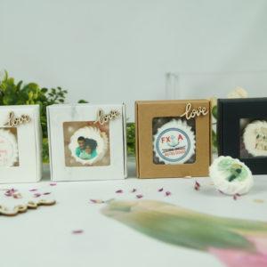 Boîte de 5 meringues love