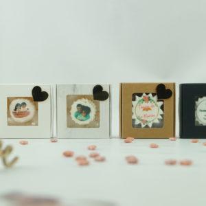 Boîte de 5 meringues avec petit cœur
